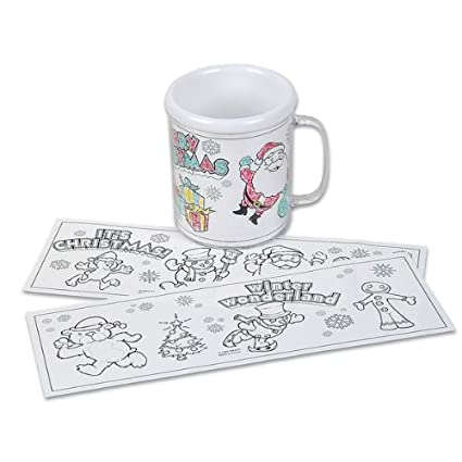 ddi 375 christmas coloring mug single pack