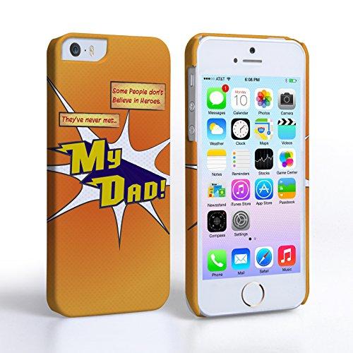 Caseflex iPhone 5 / 5S Hart Hülle Orange Mein Papa Cartoon Held Schtutzhülle