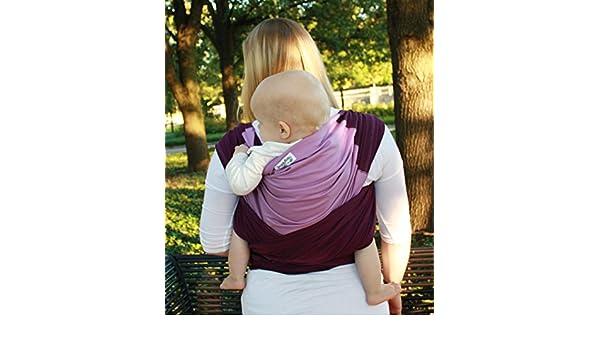 bda4fa522dd Amazon.com   Snuggy Baby Hybrid Stretch Wrap- Plum   Lavender   Baby