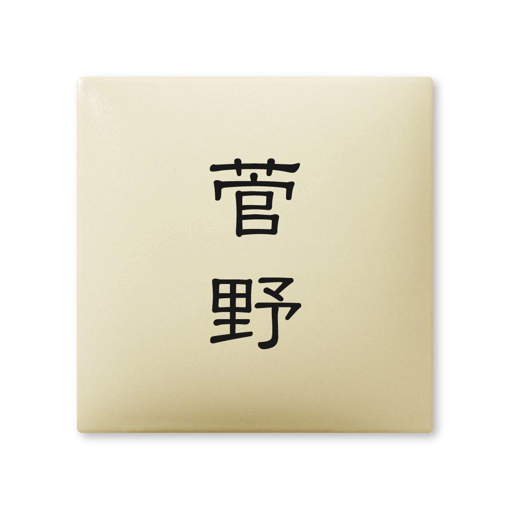 丸三タカギ 彫り込み済表札 【 菅野 】 完成品 アークタイル AR-1-2-1-菅野   B00RFAI960