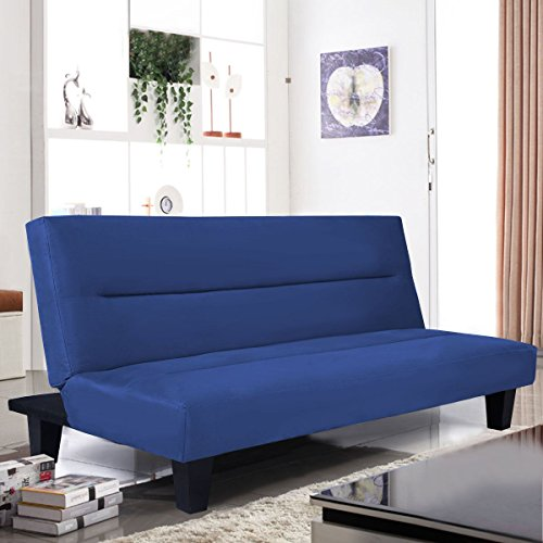"MasterPanel - Microfiber Futon Folding Couch Sofa Bed w/ 6"" Mattress Sleep Recliner Lounger #TP3266"