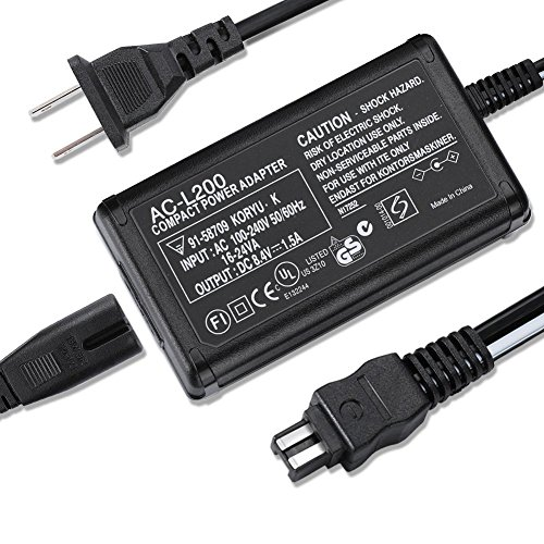 AC Power Adapter Charger Compatible Sony Handycam DCR-SX40 DCR-SX44 DCR-SX45 DCR-SX63 DCR-SX65 DCR-SX85 DCR-SR42 DCR-SR45 DCR-SR46 DCR-SR47 DCR-SR62 DCR-SR68 DCR-SR200 DCR-SR300 Digital Camcorder ()