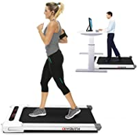 Goyouth 2 in 1 Under Desk Electric Treadmill Motorized Exercise Machine with Wireless Speaker, Remote Control and LED…