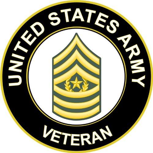 Military Vet Shop U.S. Army Command Sergeant Major Veteran Window Bumper Sticker Decal 3.8