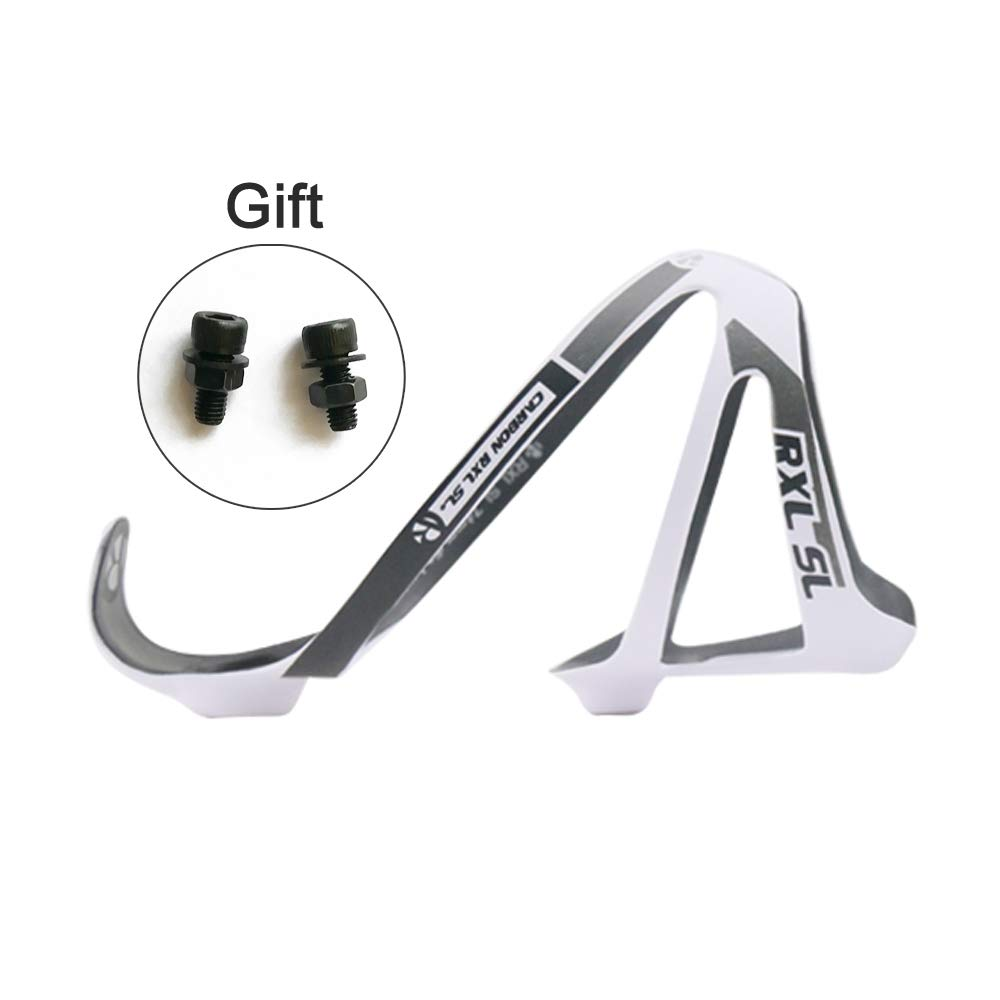 eca0c775079 Amazon.com   RXL SL Carbon Bottle Cage Bike Bottle Holder Water Bottle Cage  Bike Accessories Bottle Holder with About 21g Superlight (White)   Sports    ...
