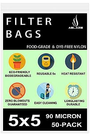 Zero Blowout Premium Nylon Tea Home Brewing Aquariums Filter Press Screen Bags All Micron /& Sizes Available 5 x 5 50 Pack Ablaze