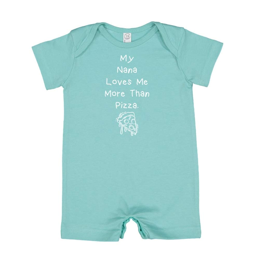 Baby Romper My Nana Loves Me More Than Pizza