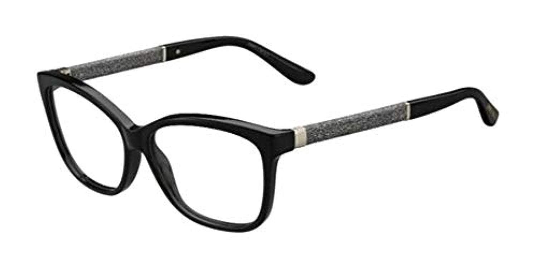 c111e0c884 JIMMY CHOO Eyeglasses 105 0P9X Black 55MM at Amazon Men s Clothing store