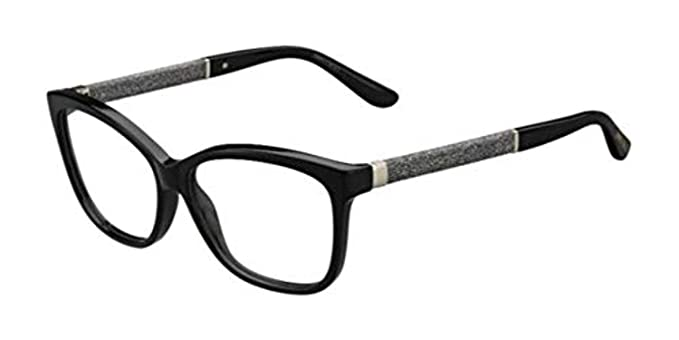 3fea2e2a72f Image Unavailable. Image not available for. Color  JIMMY CHOO Eyeglasses 105  0P9X Black 55MM