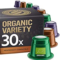 Organic Espresso and Lungo Selection by REAL COFFEE, Denmark, 30 Capsules, Nespresso Compatible