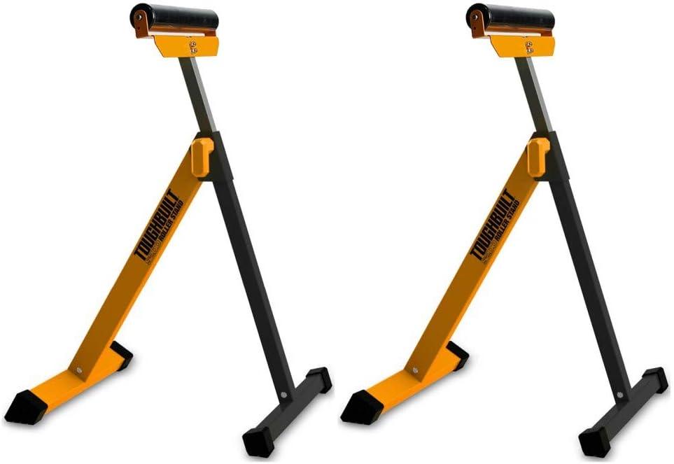 Soporte para ruedas Toughbuilt TB-S200 plegable, altura regulable, 1 par