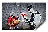Banksy Street Graffiti Super Mario Brothers Mushroom HD Vinyl Wall Art Sticker