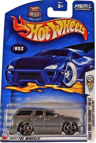 Mattel Hot Wheels 2003 First Editions 1:64 Scale Metallic Silver Cadillac Escalade Die Cast Car #052