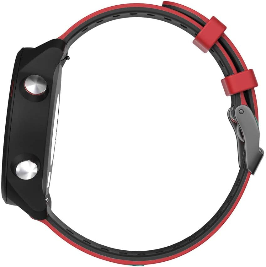 20mm Quick Release Soft Silicone Replacement Strap Fitness Band Compatible with Garmin Forerunner 245//245M//645 Sport Bands Compatible with Garmini Forerunner 245//Forerunner 245 Music Red
