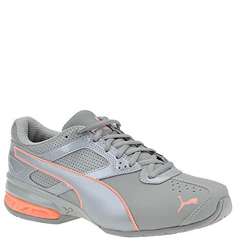 PUMA Women's Tazon 6 Wn Sneaker, Quarry-Soft Fluo Peach, 11 M US by PUMA