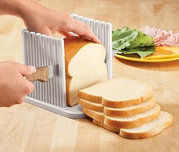 Tailcas® Hoch Qualität ABS Material Brot Toast Sandwich Laib  Schneidemaschine Aufschnittmaschine Brotschneider Küchenhobel  Scherblockform Schneidwerkzeug