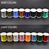 16 Mixed Colors Fly Tying Thread Fly Tying Material for Nymphal & Streamer (150 Denier)