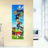 Height Chart Peel and Stick Nursery Kids Wall Decals Stickers (Paw Patrol)