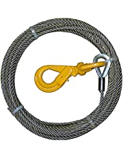 "B/A Products 4-38SC75LH Winch Cable, Steel, 3/8"" x 75', 3.375 Height, 18.125 Width, 17.937 Length"