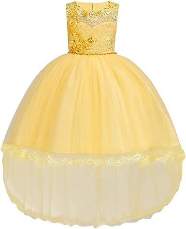 Kinder Mädchen Kleid Prinzessin Partykleid Spitzenkleid Geburtstag Festkleider