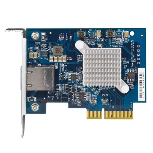 Qnap Qxg 10G1t Single Port  10Gbase T  10Gbe Network Expansion Card  Pcie Gen3 X 4  Low Profile Bracket Pre Loaded  Low Profile Flat And Full Height Brackets Are Included