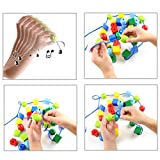 LovesTown Large Lacing Bead Set for Kids,Bead
