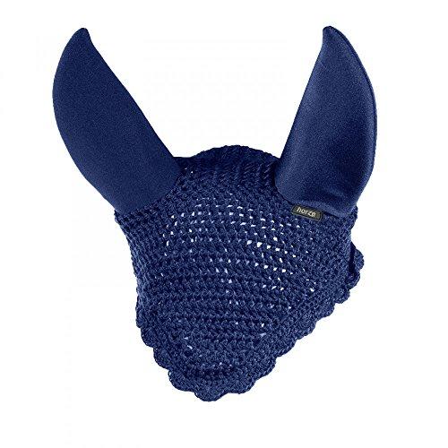 HORZE Supreme Silent Ear Net - Peacoat Dark Blue - Horse