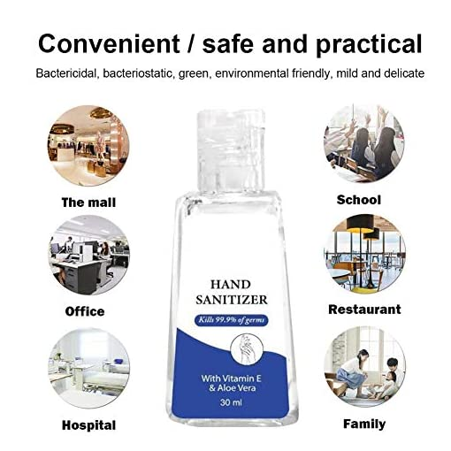 Hand Gel Rinse Rinse-Free Hand Free Wash Alcohol-Free Gel Refreshing Hand Wash Liquid Soap Instant Cleaning Office School Home Use Portable Indoors Outdoors 30mL