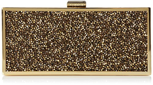 BCBG Ariana Rock Crystal Hard Clutch, Antique Gold