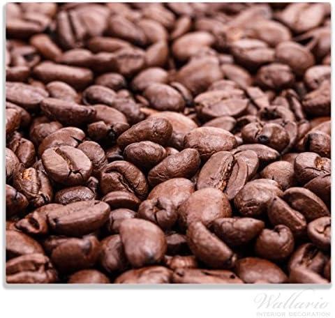 Wallario Herdabdeckplatte/Spritzschutz aus Glas, 1-teilig, 60x52cm, für Ceran- und Induktionsherde, Frisch geröstete Kaffeebohnen