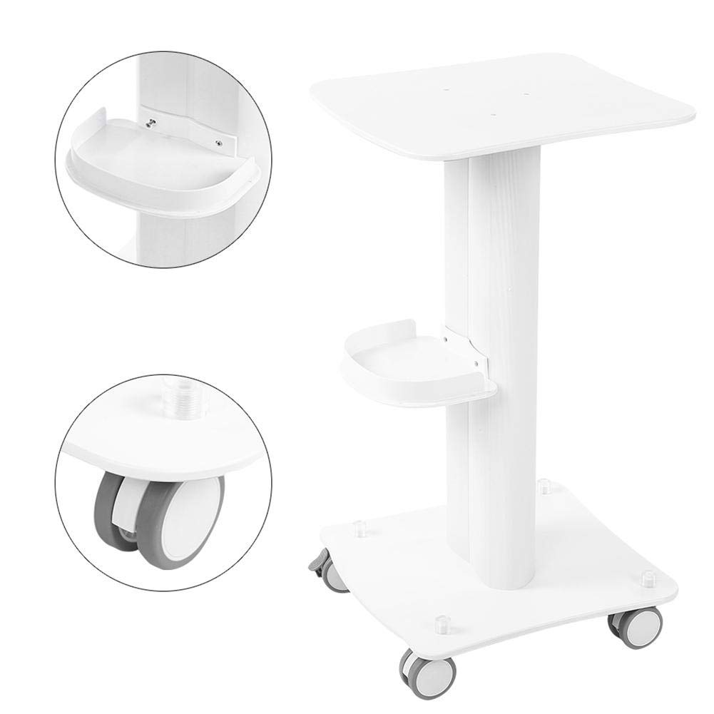 Salon Shelf Trolley, With Aluminum Stand Spa Rolling Wheel Cart for Small Bubbles Beauty Rejuvenation Skin instrument, Without Armrest Style