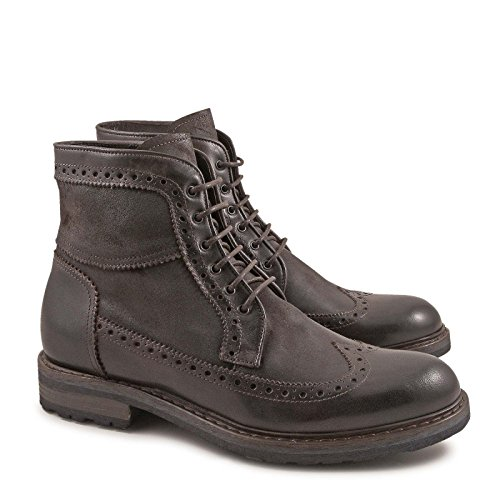 LEONARDO Stivaletti Marrone 4682OXFORDBROWN Uomo Pelle SHOES q8wqTvUx