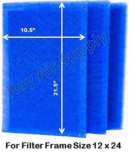 ダイナミックエアフィルタ( 3パック) 24x32 ブルー DVM B01H5TTE2I 12x24  12x24