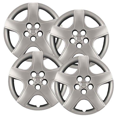 Hubcaps Com Premium Quality 16  Silver Hubcaps Wheel Covers Fits Toyota Matrix  Heavy Duty Construction  Set Of 4