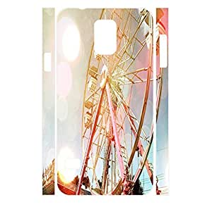 Charming Building Collection Colorful Sky Ferris Wheel Designer Hard Plastic Shell Cover for Samsung Galaxy S5 I9600 Case