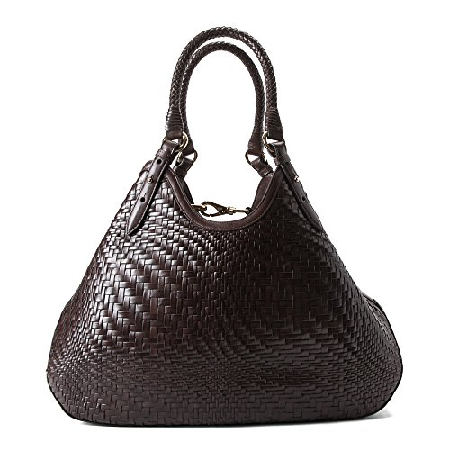 Cole Haan Genevieve Triangle Weave Tote, Chocolate