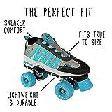 Search : Pacer Sonic Cruiser Mens & Womens Skates - Roller Skates for Women & Men - Adjustable Roller Skate/Rollerskates - Outdoor & Indoor Adult Skate - Kid/Kids Skates (Teal)