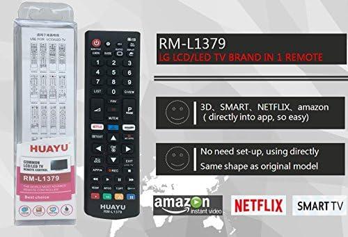 HUAYU RM-L1379 - Mando a distancia para TV LG Smart LED TV ...