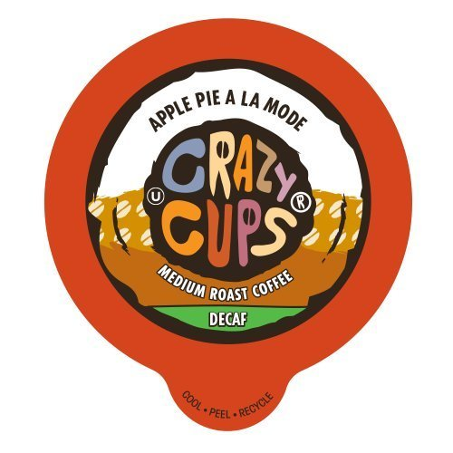 Crazy Cups Flavored Decaf Coffee, for the Keurig K Cups Coffee 2.0 Brewers, Apple Pie A La Mode, 22 Count