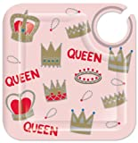Lolita Love My Party Queen 8-1/2-Inch Square Appetizer Plates, Set of 4