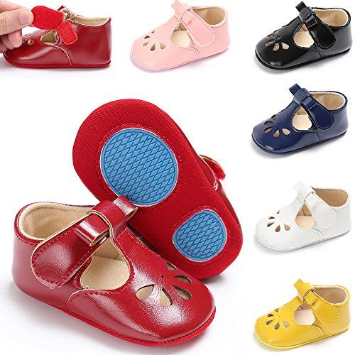 KaKaKiKi Baby Girls Mary Jane Flats Bowknot Non-Slip Princess Dress Toddler First Walkers Shoes