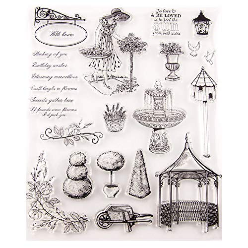 GIMITSUI Store Clear Silicone Stamp Book and Ink