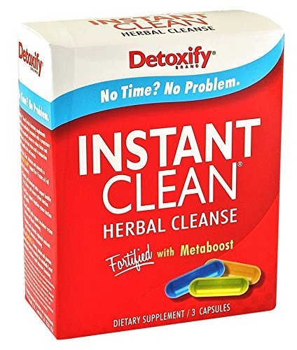 5 Pack - Detoxify Instant Clean Herbal Cleanse 3 Capsules with Free Im Baked Bro and Doob Tubes Sticker by Detoxify