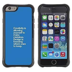 Suave TPU GEL Carcasa Funda Silicona Blando Estuche Caso de protección (para) Apple Iphone 6 / CECELL Phone case / / blue creativity mistakes design point /