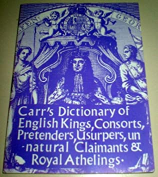 book cover of Carr\'s Dictionary of English Kings