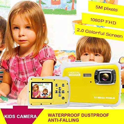 Kids Camera Underwater Digital Camera-IP68 Waterproof Toddler Camera,Video Recorder Action Preschool camera,2.0 Inch LCD Display,16G TF Card Floating Wrist Strap,8X Digital Zoom, Flash and Mic for Kid by L8star (Image #5)