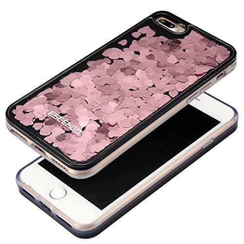 Iphone 7 plus case eseekgo floating liquid glitter case for Case 3d online
