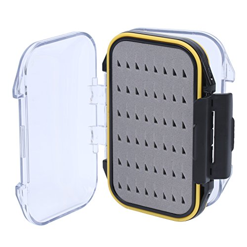 Maxcatch Waterproof Fly Box Double Clear Lid Fly Fishing Box Easy Grip Foam (Size A) (Fly Fishing Tackle Box compare prices)