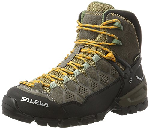 SALEWA WS Alp Trainer Mid Gore-Tex, Scarpe da Arrampicata Alta Donna Marrone (Walnut / Butterscotch 7505)