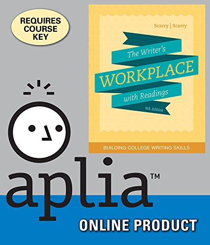 Amazon aplia for scarryscarrys the writers workplace with aplia for scarryscarrys the writers workplace with readings building college writing skills fandeluxe Image collections